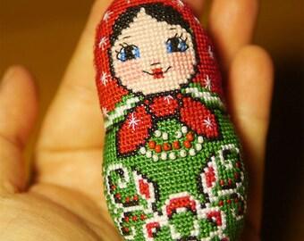 Christmas Matryoshka toy - Cross stitch pattern