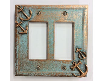 Anchors Double Decorator Light/Outlet Cover