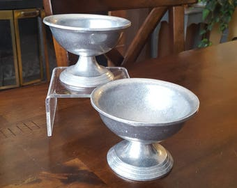 Vintage 1972 Wilton Pewter Pedestal Bowl