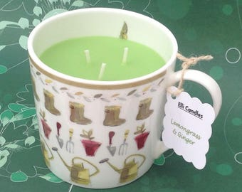 Handmade scented candle.... in lovely reusable ceramic mug.