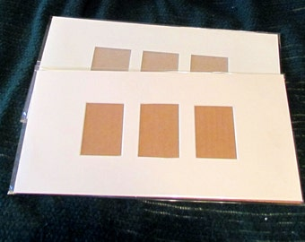 "7""x 14"" Matteboard- for 3 ATCs/ ACEOs with cardboard backing"