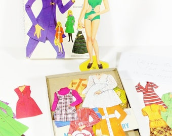 Magic Mary Jane Magnetic Paper Doll with Many Complete Outfits 1975 Milton Bradley