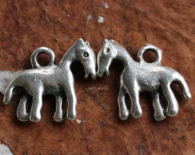 LIL' PONY No. 142 .. 2 Mykonos Greek Horse Charms 17x15mm (M142-2)