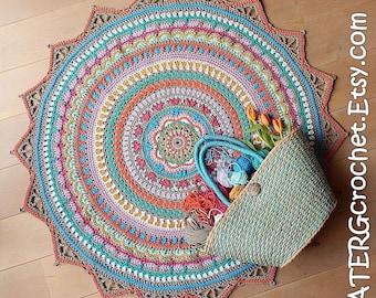 Crochet pattern BOHO RUG Bobbiny cord by ATERGcrochet