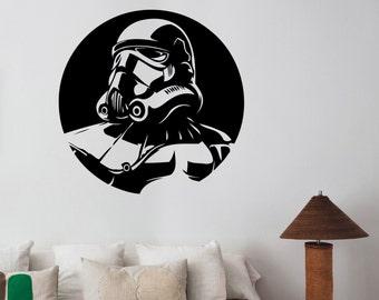 Stormtrooper Wall Decal Vinyl Sticker Star Wars Art Decorations for Home Housewares  Living Room Bedroom Dorm Movie Decor sws2