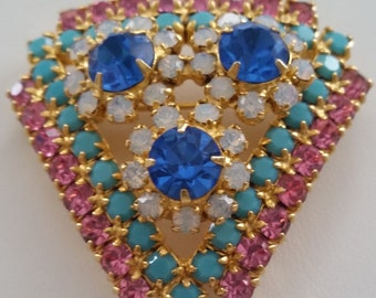 JULIANA Splendid And Unique DELIZZA And ELSTER Vintage Brooch ~ Beautiful Authentic And Collectible Designer Vintage Jewelry