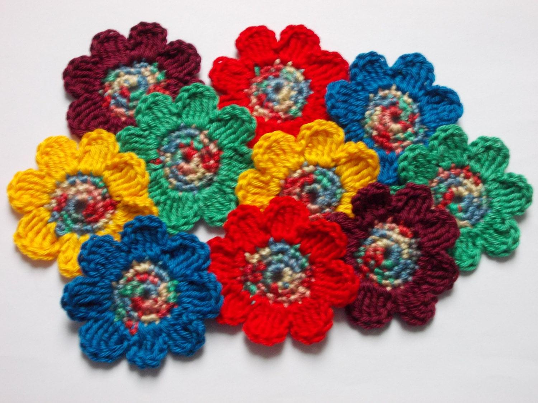 Old Fashioned Leicht Gehäkelten Blumen Frei Muster Gift - Decke ...