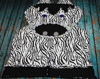 Zack the Zebra Rag Quilt RTS