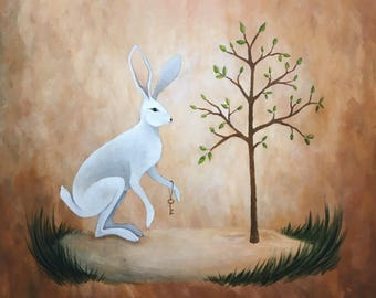 Rabbit and Tree Friend Print
