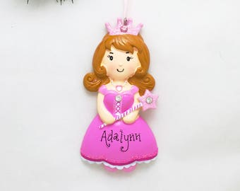Princess Personalized Christmas Ornament / Princess Dress Ornament / Beauty Pageant / Tiara / Hand Personalized