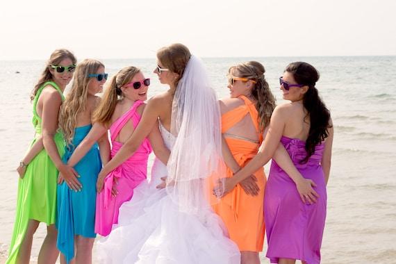 Neon color dresses