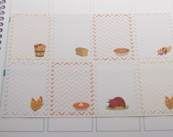 Full Box Thanksgiving Planner Stickers PS214 Fits Erin Condren Planners