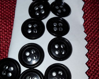 Lot of 13 vintage buttons black