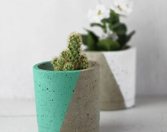 Concrete Planter – Gift For Her – Concrete Pot – Plant Pot –Indoor Planter – Industrial Design  - Botanical Gift -