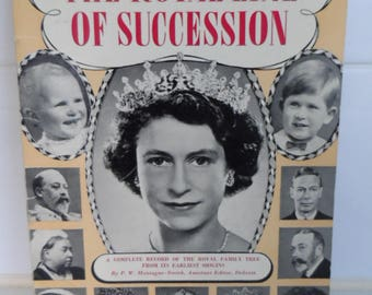 Royal Line of Succession 2 different books 1950s 1970s