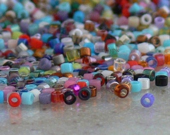 Delica Beads Assorted Colors, 11/0 Glass Seed Beads: 5-Grams