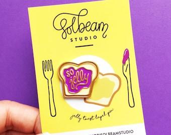 So jelly toast soft enamel pin-lapel pin-hat pin-brooch