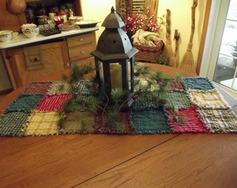 Rustic Rag Quilt Table Runners - Made to Order, Handmade, Farmhouse Decor, Country Kitchen, Primitive Decor!