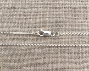 """20"""" Sterling Silver Light Cable Chain- 1.1mm, (comes with a lobster clasp)"""