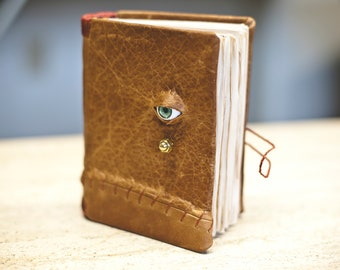Small Leather Eyeball Notebook