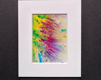 Original ACEO abstract artwork 'Tropical' series #1 Yorkshire artist