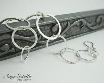 Sterling Silver Link Bracelet - Handmade Bracelet - Chunky Link Bracelet
