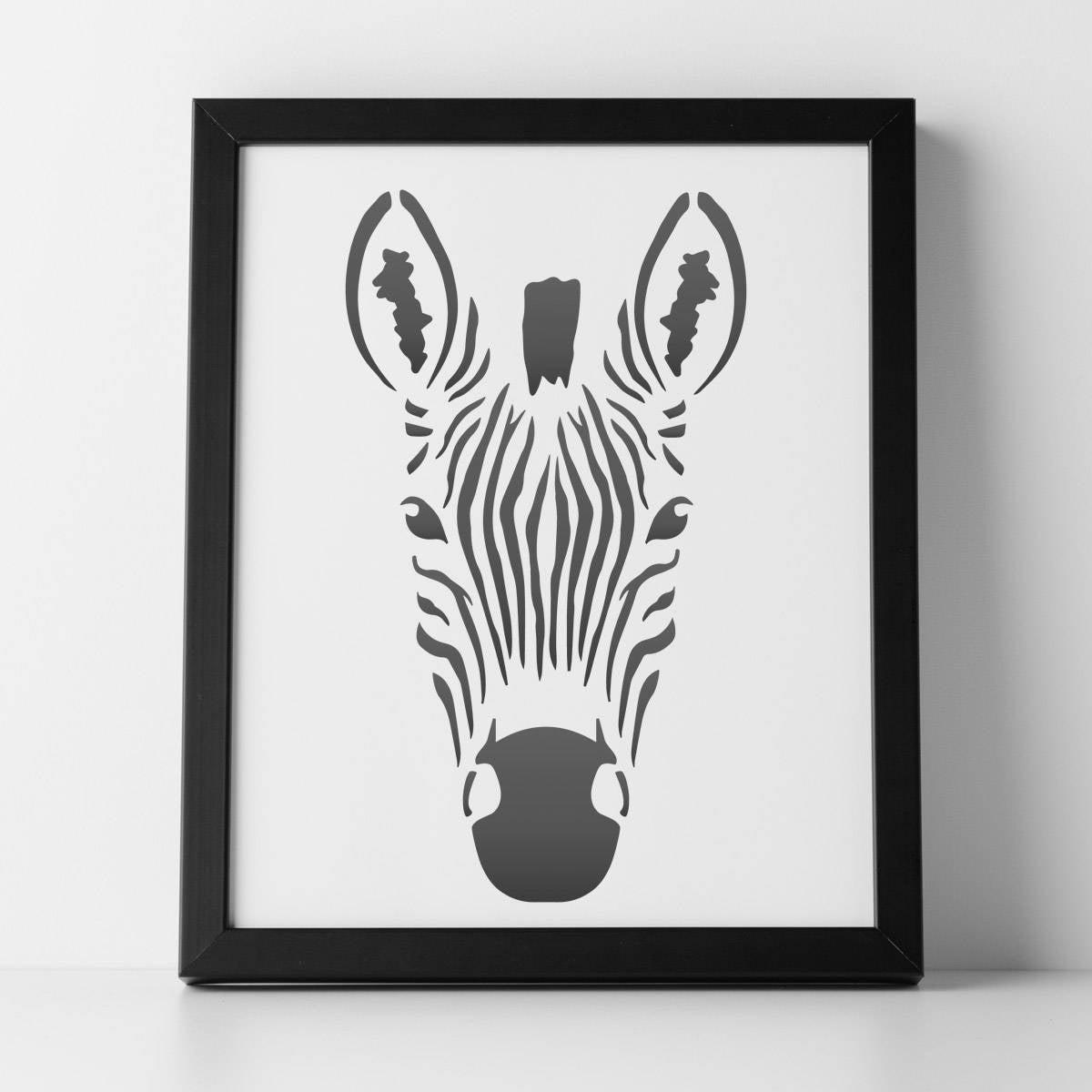 CraftStar Zebra Stencil A4 Mylar Zebra Kopf Vorlage für