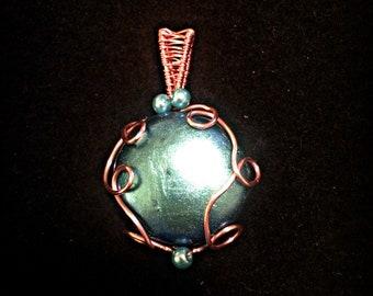 Hand-made Pendant ~ Blue shimmer