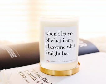 Let Go   Lychee & Black Tea Scented Soy Candle