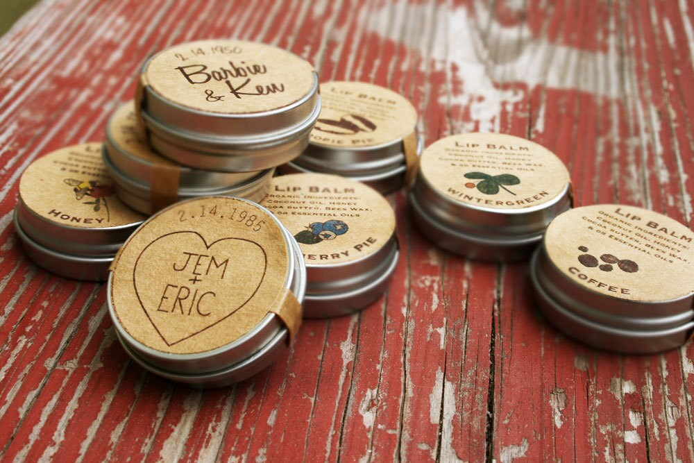 Wedding Favors / Custom Lip Balm Wedding Favor / Organic Lip