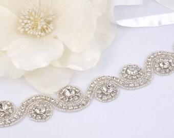 Beatrice - Style Vintage strass cristaux bandeau de mariage