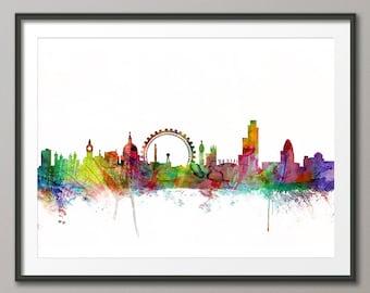 London Skyline, London Cityscape England, Art Print (905)
