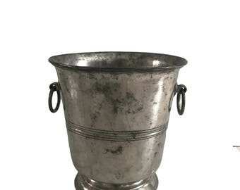 PEWTER ICE BUCKET, Vintage Ice Bucket, Large Arte Italica Italian Pewter Ice Bucket