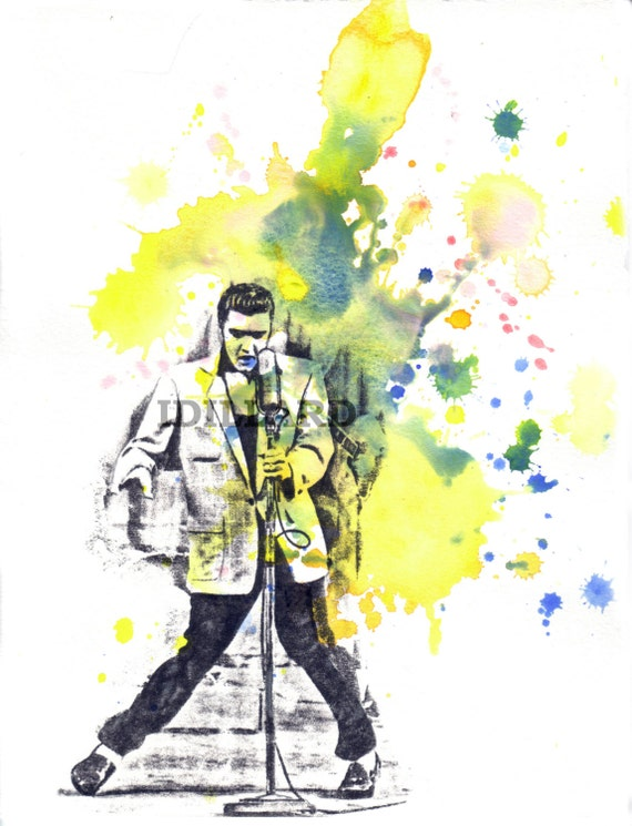 Elvis Presley Art Print from Original Watercolor Painting