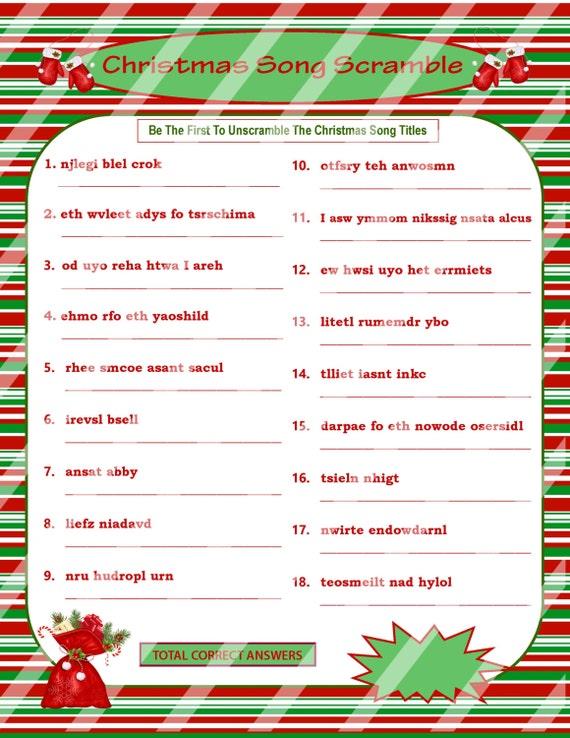 Free Printable Christmas Word Scramble Game