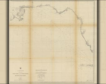 Poster, Many Sizes Available; Map Gulf Coast Key West To Rio Grande 1863 P1