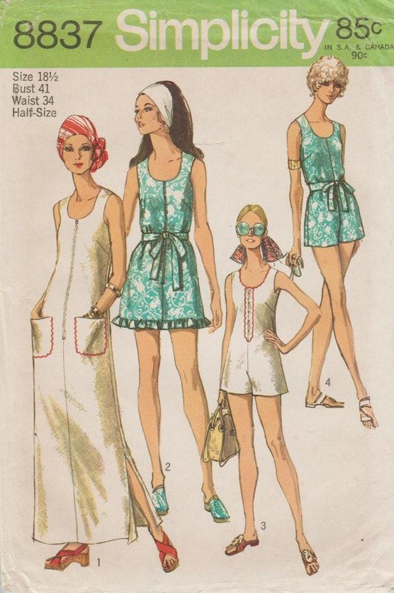 Einfachheit 8837 / Vintage Schnittmuster / Strand Kleid