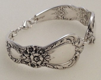 Spoon Bracelet. Wrist Size 6 to 9. Choose Your Size. Heritage 1953. Vintage Silverplate.