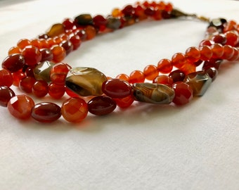 Twister Amber Statement Necklace