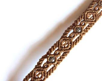 Ankle bracelet - Bracelet wrist - macrame Bracelet - Camel Bracelet - Boho - ethnic Bracelet Bangle - Bracelet Hippie - gift idea