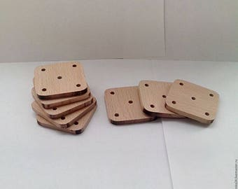 10 pieces Wooden plaiting boards. Beech, maple, oak.