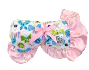 Butterflies Stroller Blanket Pink/Aqua/Green