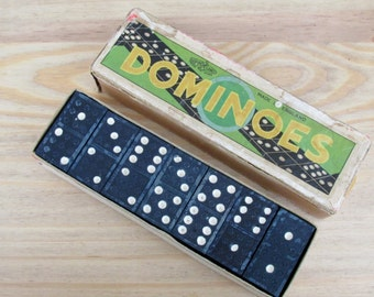 1950s Dominoes Box Set by Glevum Games England Tile Games