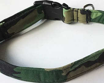 Green Camouflage Collar for Dogs or Cats