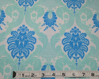 Item 176,  Waverly 100% Cotton, Teal Damask,  Apparel Fabric, Quilting Fabric, By the Yard