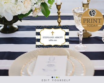 Navy place cards etsy solutioingenieria Gallery