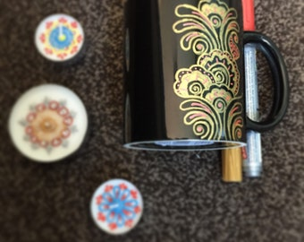 Personalised henna| mehndi inspired mug|cup tea| coffee