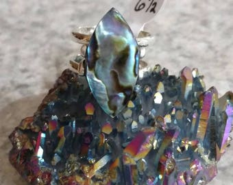 Abalone Ring Size 6 1/2