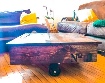 Industrial Cart Rustic Coffee Table