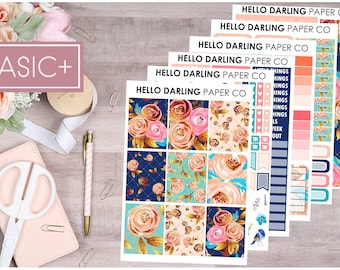 Floral Glam Kit, Glam Sticker Kit, EC, Weekly Kit, Planner Kit, Erin Condren, Vertical Planner Kit, Planner Stickers, Sticker Kit,K041